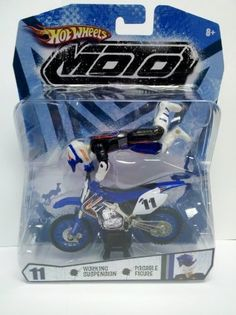 Hot Wheels Blue and Black Moto #11 (Motorcycle with Rider Action Figure) by Mattel. $15.99. Not for small chilcren. Nice sized toy for play. Motor cycle with rider