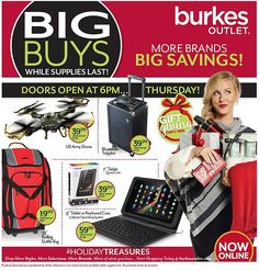 Burkes Outlet 2015 Black Friday Ad...check out the 2 page #BlackFriday ad.