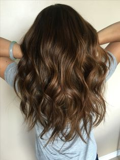 caramel balayage #longlayers #balayage #caramelbrown for when I finally pull the trigger and de my hair...