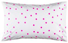 FLURO PINK SPOT PILLOWCASE from Rachel Castle