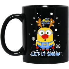 Minion South Dakota State Jackrabbits Mug Christmas Let It Snow Coffee Mug Tea Mug