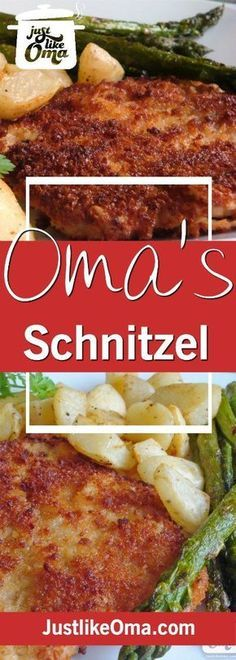 German Pork Schnitzel including a Jägerschnitzel Sauce. A quick and easy meal ❤️ Check out http://www.quick-german-recipes.com/german-schnitzel-recipe.html