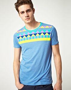 ASOS T-shirt with Aztec Yoke