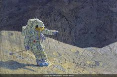 """Skiing the Mountains of the Moon"" by astronaut Alan Bean. (www.alanbean.com)"