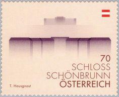 Sello: Schoenbrunn Castle, Vienna (Austria) (Austrian landmark) Mi:AT 3123,ANK:AT 3155