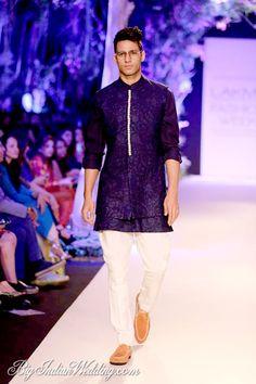 Manish Malhotra 'SummerAffair' Collection At Lakme Fashion Week 2014 Sonakshi Sinha and Mens Indian Wear, Mens Ethnic Wear, Indian Men Fashion, Indian Attire, Indian Ethnic Wear, Ethnic Fashion, Indian Dresses, Indian Outfits, Moda Indiana
