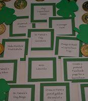 St. Patrick's Day Activity Idea Cards