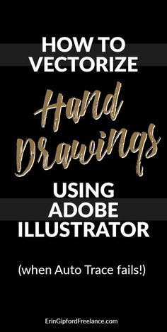 Adobe Illustrator Video Tutorial: Sometimes the auto trace (image trace) tool just doesn't cut it. There is an easier way to vectorize your drawings! I'll walk you thru it :)