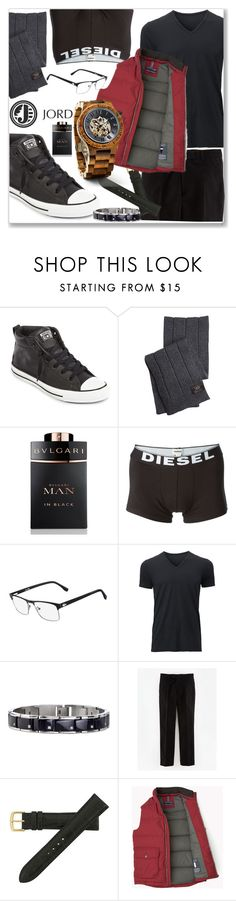 """JORD Watches 7"" by littledeath11 ❤ liked on Polyvore featuring Converse, UGG Australia, Bulgari, Diesel, Lacoste, Uniqlo, Hadley-Roma, men, jordwatches and jord"