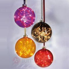 Boule en verre Vora à 16 mini-lampes, violet, référence 1522009- Décoration, DIY et lumière de Noël chezLuminaire.fr!