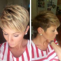 corte pixie en capas para el pelo corto