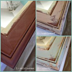 tutorial for a layered look with four paint samples from American Paint Company