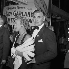 Mr & Mrs Gable. Even As An Older Gentleman...He was Gorgeous!