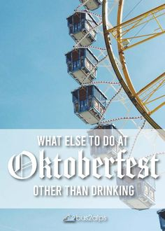 There's more to Oktoberfest than beer, believe it or not! Check out the traditional ceremonies, the carnival rides, and try all of the foods. Click through to read 5 other things you can do at the best beer fest in the world. Munich Oktoberfest, Sleeping Beauty Castle, Carnival Rides, Beer Festival, Pretty Photos, Best Beer, Roller Coaster, Being A Landlord, Nice View