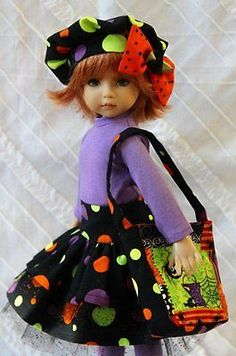 Happy-Halloween-OOAK-Outfit-for-Effner-13-Little-Darling-by-Glorias-Garden. Ends 8/24/14.