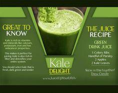 Juicing kale