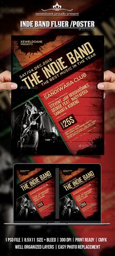 Indie Music Concert Flyer \/ Template Flyer Indie Pinterest - band flyer template