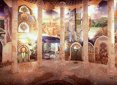 Temples of Damanhur - secret decorated underground caves and tunnels located 30 miles outside of Turin, Italy