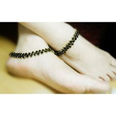 Online Shopping for Black Anklet   Anklets   Unique Indian Products by Heartstrings by Jyoti Sudhir - MHEAR37139730110