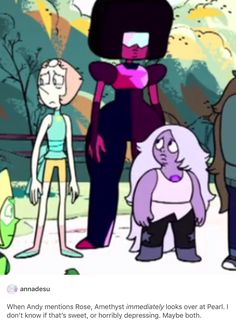 It's sweet because Amethyst can't stand to see Pearl feeling hurt. Her expression is sympathetic concern