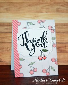 Heather Campbell for Avery Elle using our Thank You and You're Invited dies and our Berry Good stamp set.