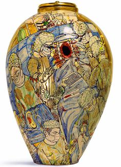 Grayson Perry - Urn For The Living sothebys Grayson Perry, Ceramic Pottery, Pottery Art, Contemporary Ceramics, Contemporary Art, Sculpture Art, Sculptures, Peter Saville, China Art