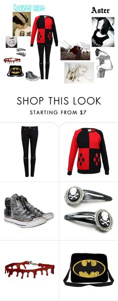 """Joker and Quinn"" by quinnfrey ❤ liked on Polyvore featuring Ted Baker, Converse and Cameo"