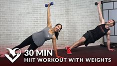 30 Minute HIIT Workout with Weights - HASfit - Free Full Length Workout Videos and Fitness Programs 30 Min Hiit Workout, Tabata Workouts At Home, Hiit Workouts With Weights, Workout Videos, Leg Workouts, Week Workout, Workout Schedule, Workout Plans, Intense Leg Workout
