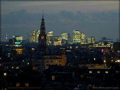 Zuiderkerktoren en Zuidas Amsterdam by night Empire State Building, Holland, Amsterdam, New York Skyline, Night, Travel, The Nederlands, Viajes, The Netherlands
