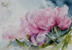 Watercolor Peonies inspo for tattoo