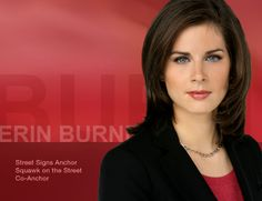By complete accident, CNBC hired an anchor that looks great in both standard and high definition and understands basic economics--while at the same time irritating the Kos Kids. Erin Burnett, Female News Anchors, Newscaster, Friend Outfits, American Women, Best Tv, Looks Great, Pin Up, Actresses