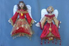 NEW  EPattern  ANGELI Di Natale Hanging Christmas by michelledolls, $11.00