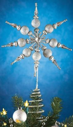 Snowflake Christmas Holiday Sparkling Silver Acrylic Crystal Tree Topper Decor  #Snowflake #Christmas #CrystalTree #Tree #TopperDecor #Decor #ChristmasDecor #SparklingSilver #SparklingCrystalTree #Sparkling #Decpr