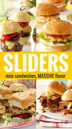 20 Slider Recipes from Taste of Home including: Bacon & Cheese Meatball Sliders, BBQ Chicken Sliders, Chipotle Sliders, Baja Chicken & Slaw Sliders, Turkey & Swiss Biscuit Sliders and more!