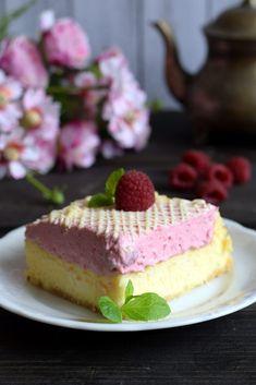 Pyszny sernik z malinową pianką – Smaki na talerzu Cheesecake, Food, Cheesecakes, Essen, Meals, Yemek, Cherry Cheesecake Shooters, Eten