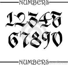 Zahlen tattoo - tattoo quotes - tattoo fonts - watercolor tattoo Tattoo for women - small Tattoo - m Number Tattoo Fonts, Tattoo Lettering Alphabet, Number Tattoos, Tattoo Lettering Styles, Chicano Lettering, Graffiti Lettering Fonts, Graffiti Tattoo, Lettering Design, Number Fonts