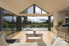 Couple Return to Home After 44 Years with Origin Bi-Folding Doors Garden Room Extensions, House Extensions, Open Plan Kitchen Dining Living, Dining Rooms, House Extension Design, Bungalow Renovation, Interior Architecture, Interior Design, Building A House