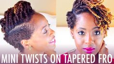 5 Chic Protective Styles That Can Be Worn On Any Occasion - 5 Chic Protective S. - 5 Chic Protective Styles That Can Be Worn On Any Occasion – 5 Chic Protective Styles That Can Be - Protective Styles For Natural Hair Short, Tapered Natural Hair, Natural Hair Twists, Natural Hair Styles, Short Hair Styles, Natural Beauty, Two Ponytail Hairstyles, Shaved Side Hairstyles, Box Braids Hairstyles For Black Women