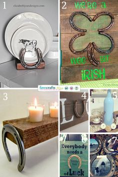 With St. Patrick's Day coming up and my love of horseshoes and anything related to horses, I've gathered up 7 Lucky Horseshoe Crafts we can all try.