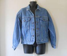 Mens Jean Jacket Mens Denim Jacket 80s Jean by TheVilleVintage, $44.99
