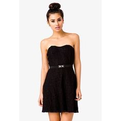 Forever 21 Strapless Lace Dress