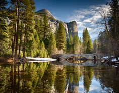 California -- Yosemite National Park -- Stoneman Bridge (built 1933)