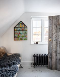 Internal doors created from reclaimed boards.