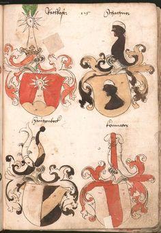 Wernigeroder (Schaffhausensches) Wappenbuch Süddeutschland, 4. Viertel 15. Jh. Cod.icon. 308 n  Folio 125r