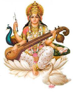 sarasvati: hindu goddess of eloquence and intelligence, sarasvati extends a refreshing drink from her well of knowledge to complete the month with aptitude. In hindu tradition, Sarasvati invented all sciences, arts, and writing. Shiva, Krishna, Hanuman, Saraswati Vandana, Saraswati Mata, Saraswati Goddess, Saraswathi Pooja, Kundalini Mantra, Kundalini Yoga