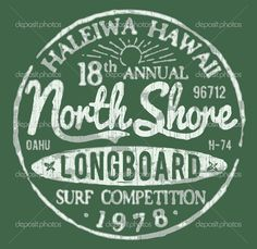 North Shore Surf Themed Vintage Design — Stock Vector © m.j.h1nkle ...