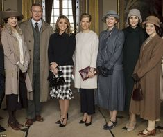 Ms Elizabeth McGovern was also on set for last week's visit from the Countess of Wessex and Mexico's  First Lady Angélica Rivera.