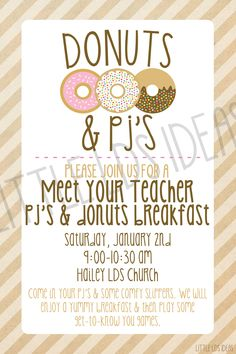 Planning a 'Meet the Teacher' party for your Primary? Stop by Little LDS Ideas to print of these cute invitations for FREE!