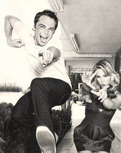 Jim Parsons & Kaley Cuoco - How cute is this picture of your Big Bang Theory favorites?                                                                                                                                                                                 More