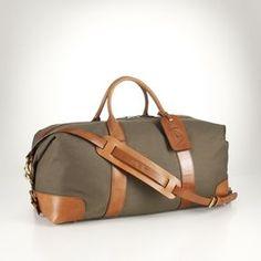 Men's Polo Ralph Lauren Canvas & Leather Weekend Bag